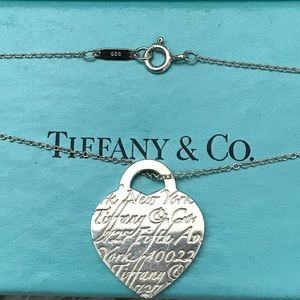 Tiffany Heart Notes Necklace